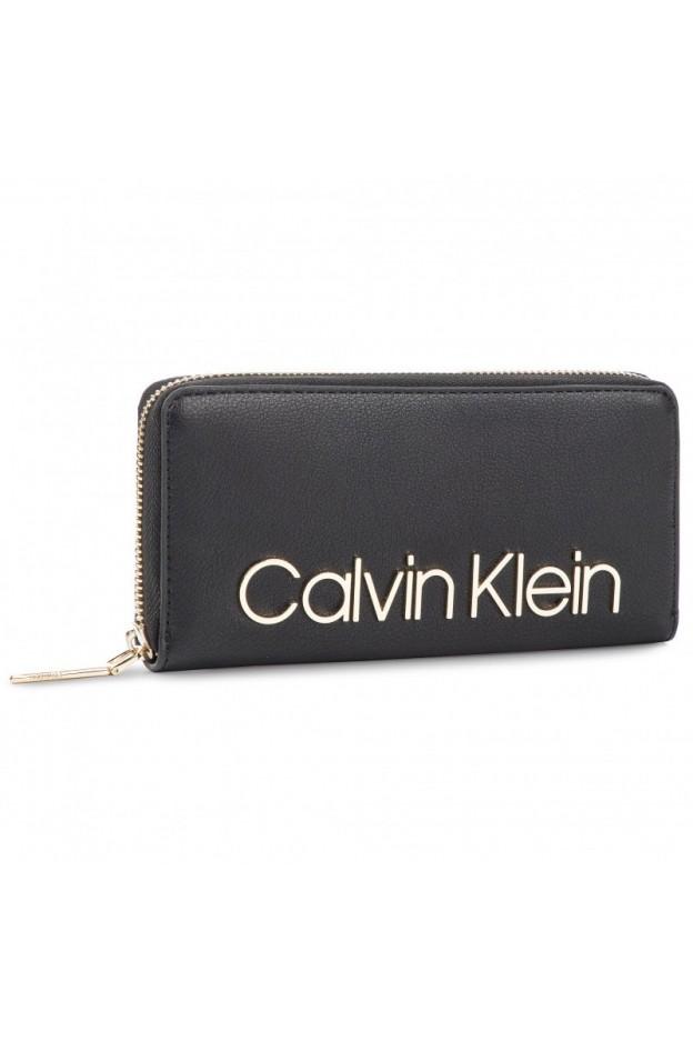 Calvin Klein Portafoglio K60K605468 001 Black - Nuova Collezione Autunno Inverno 2019 - 2020