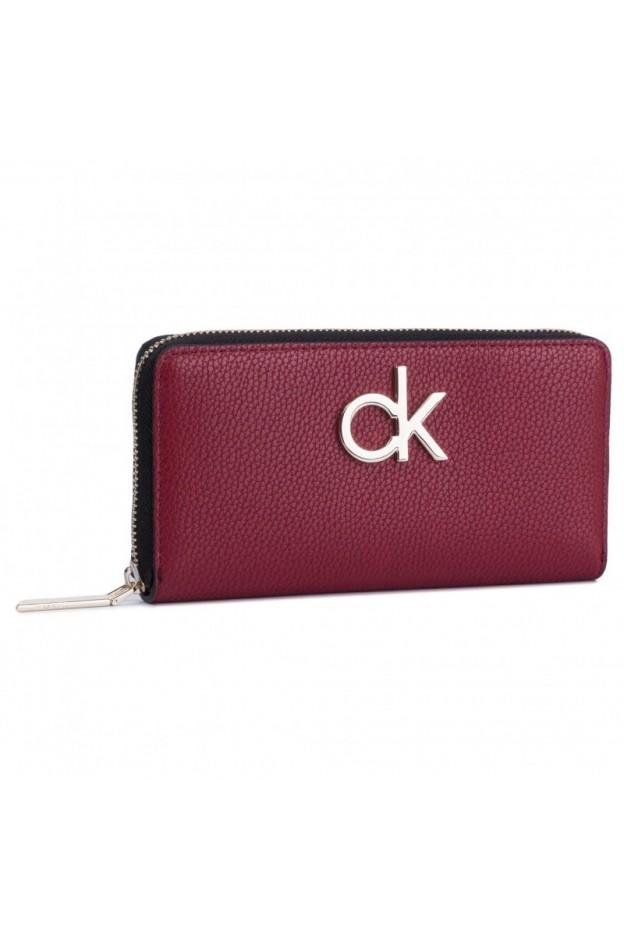 Calvin Klein Wallet K60K605684 XCL Bordeaux - New Collection Autumn Winter 2019 - 2020