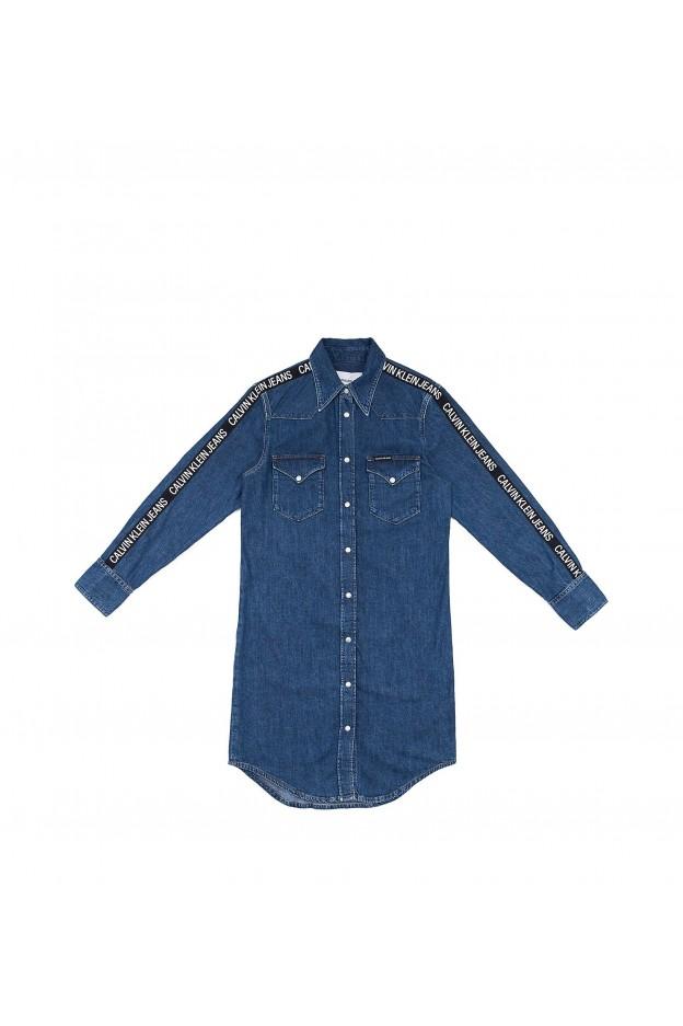 Calvin Klein Jeans Jeans Dress Logo Tape J20J211833 911 AA054 Side Stripe Logo - New Collection Autumn Winter 2019 - 2020