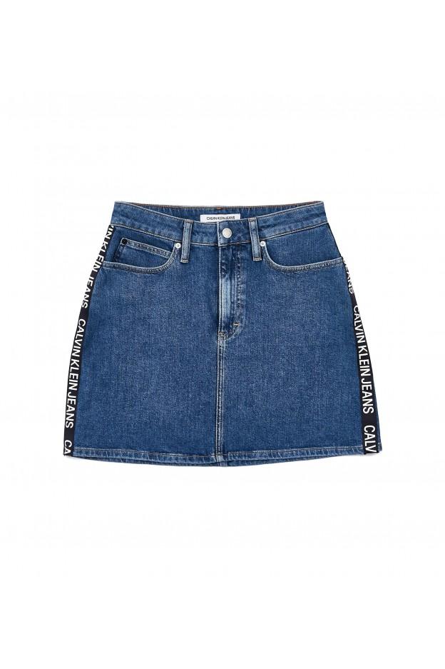 Calvin Klein Jeans High Rise Denim Shorts J20J212066 911 Blu - New Collection Autumn Winter 2019 - 2020