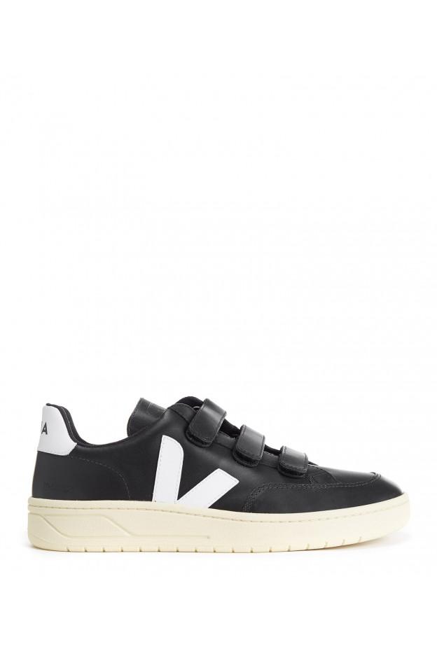 VEJA V-Lock Sneakers in pelle nero bianco XC022102 - Nuova Collezione Primavera Estate 2020