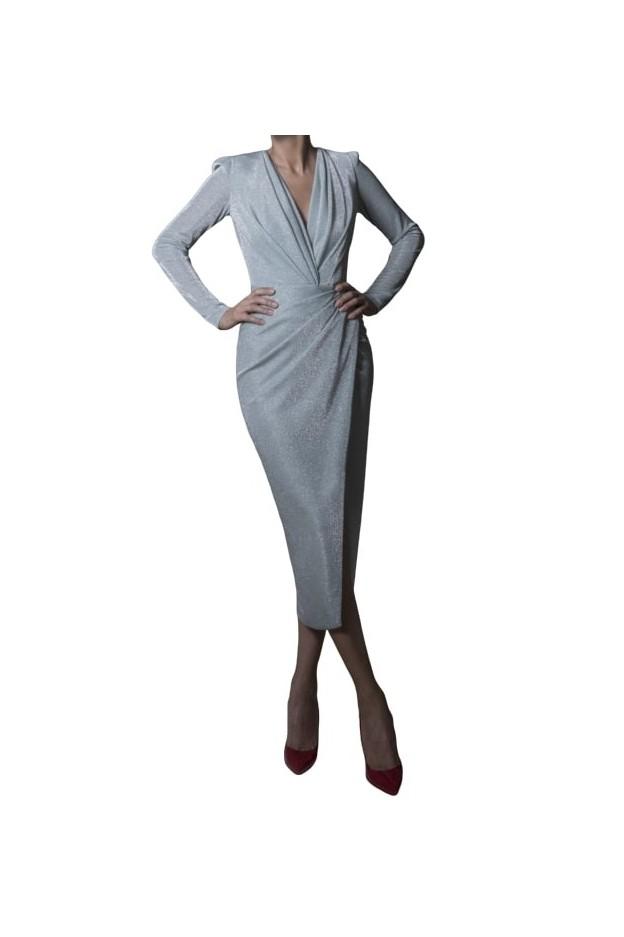 Rhea Costa Abito Signature Wrapped Midi Dress 20111DMD - New Season Spring Summer 2020