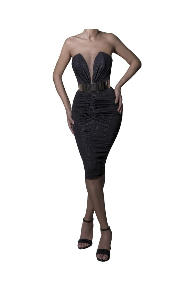 Rhea Costa Abito Naked Shoulders Bodycon Dress 20106DMD - New Season Spring Summer 2020