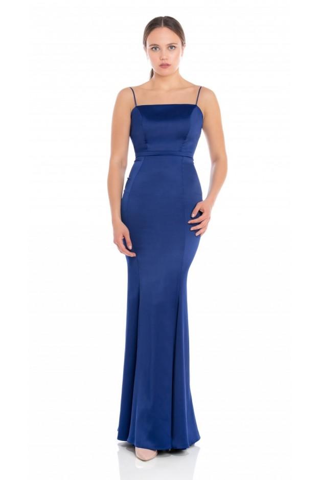 Feleppa Calliope, satin mermaid dress ROYAL BLUE - Spring Summer 2020