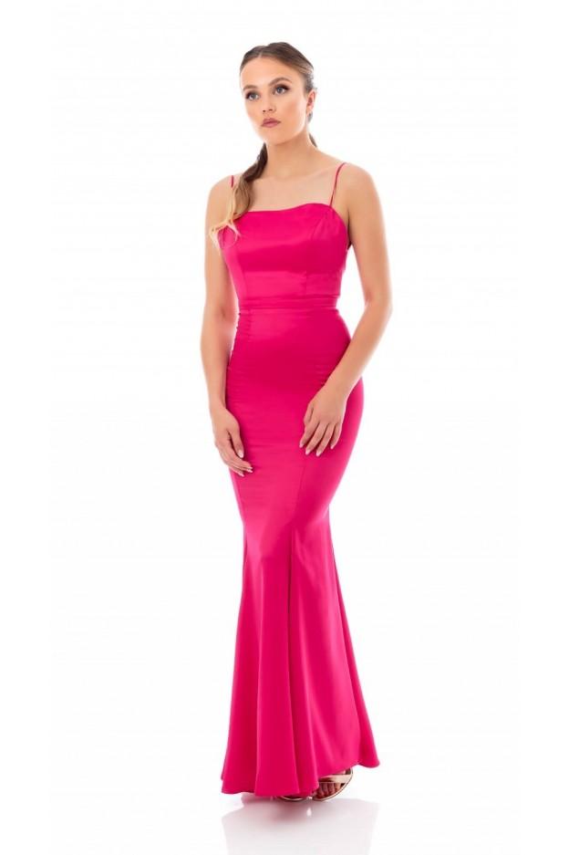 Feleppa Calliope, satin mermaid dress FUCHSIA - Spring Summer 2020