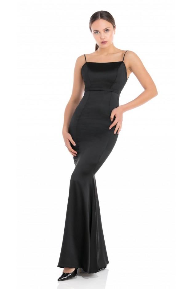 Feleppa Calliope, satin mermaid dress BLACK - Spring Summer 2020