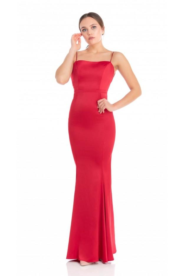 Feleppa Calliope, satin mermaid dress RED - Spring Summer 2020