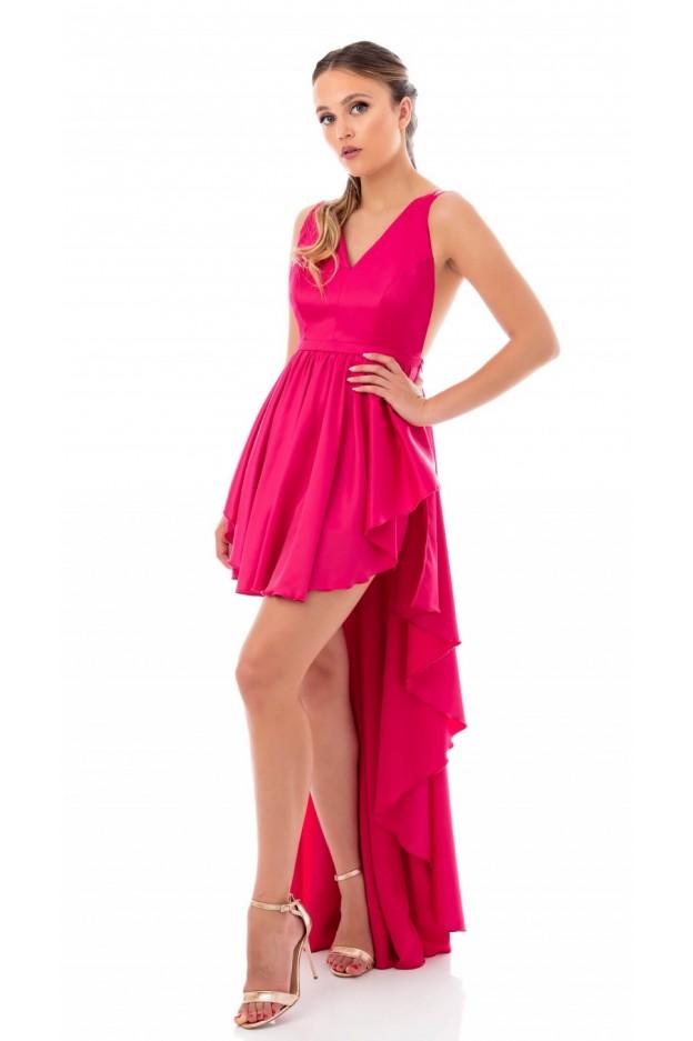 Feleppa Maria, asymmetrical dress FUCHSIA