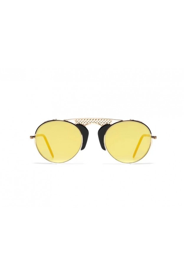 L.G.R. Albatros Sunblasses Gold - Black 01 - Flat Gold Mirror