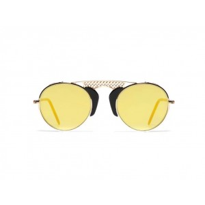 L.G.R. Occhiali Albatros Gold - Black 01 - Flat Gold Mirror