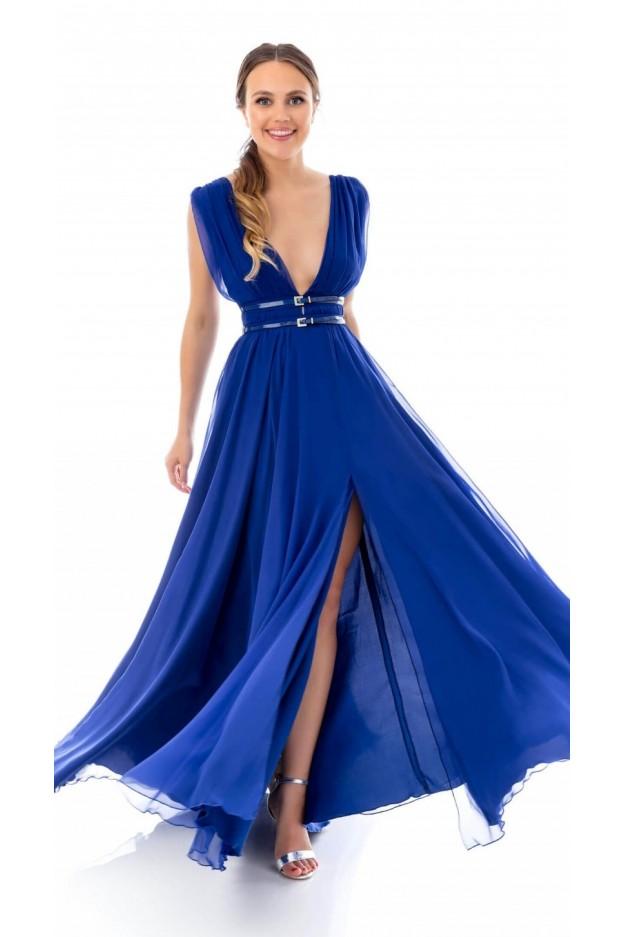 Feleppa Fortuna, long empire style dress ROYAL BLUE - Spring Summer 2020