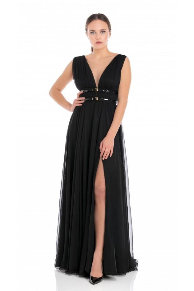 Feleppa Fortuna, long empire style dress BLACK - Spring Summer 2020
