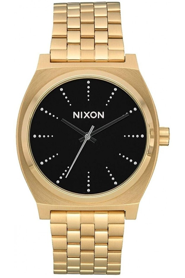 Nixon Time Teller , 37 Mm Gold Black Silver A045-2879-00