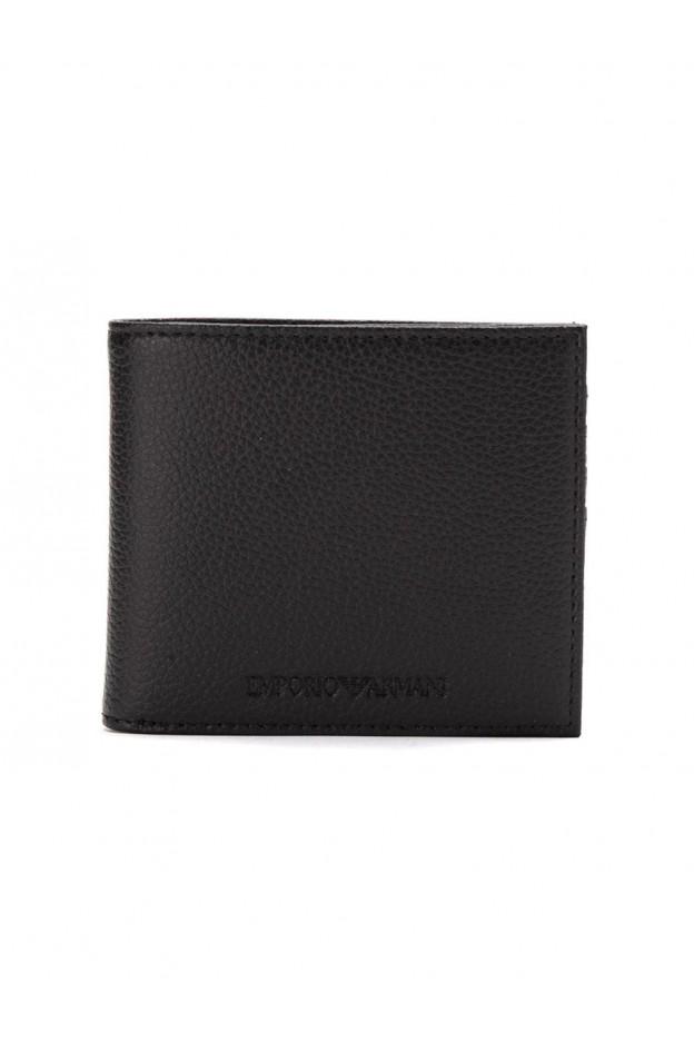 Emporio Armani Logo Embossed Billfold Wallet