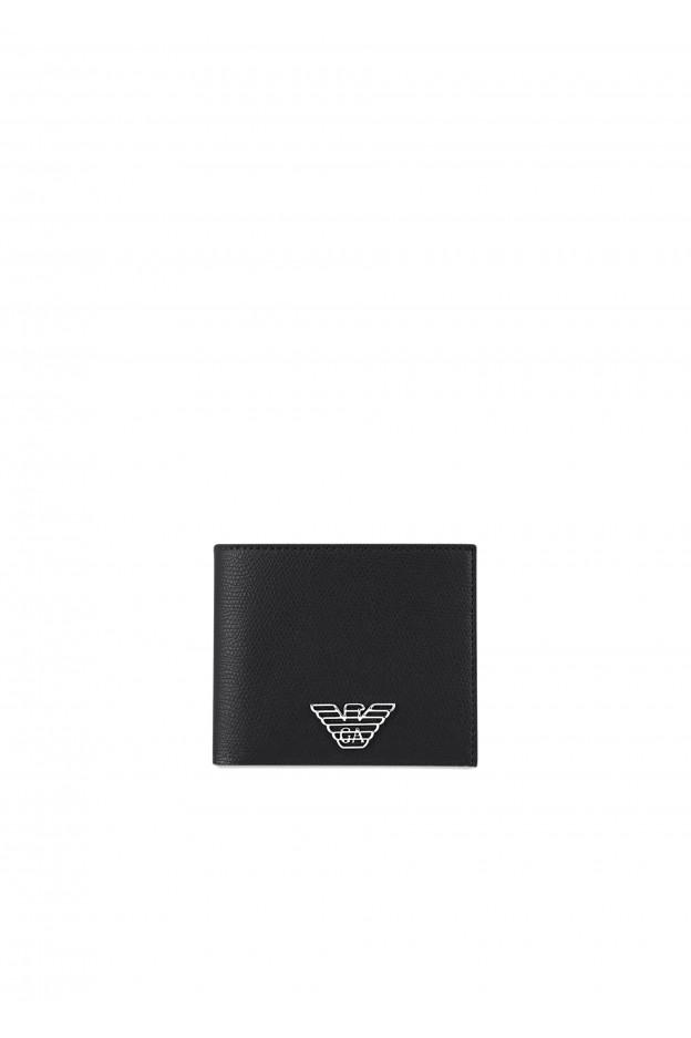 Emporio Armani Portafoglio in similpelle con placchetta logo Y4R168YLA0E1 81072 NERO - Autunno Inverno 2020 2021