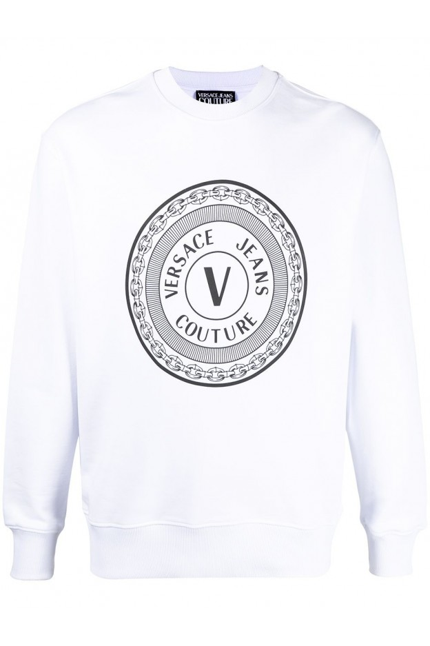 Versace Jeans Couture Logo Print Sweatshirt B7GWA7TT 30318 003 BIANCO OTTICO - New Season Spring Summer 2021