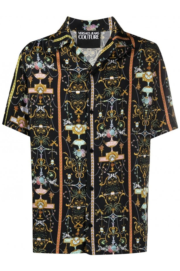 Versace Jeans Couture Signature Baroque Print Shirt B1GWA6B0 S0988 899 - New Season Spring Summer 2021
