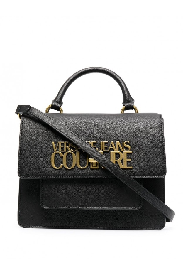 Versace Jeans Couture Logo-Plaque Tote Bag E1VWABL5 71879 899 BLACK - New Season Spring Summer 2021
