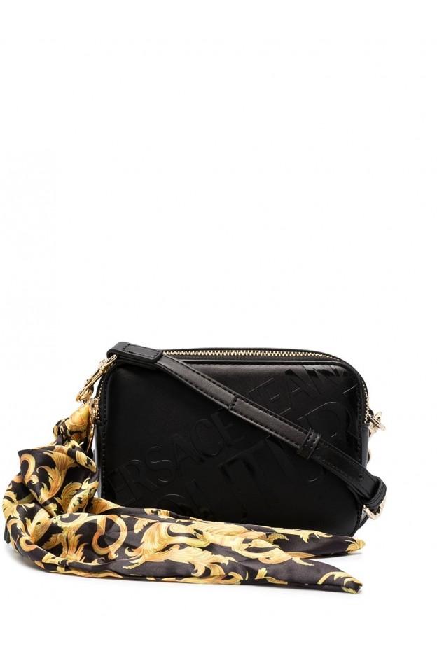 Versace Jeans Couture Logo-Embossed Camera Bag E1VWABA6 71875 899 BLACK - New Season Spring Summer 2021