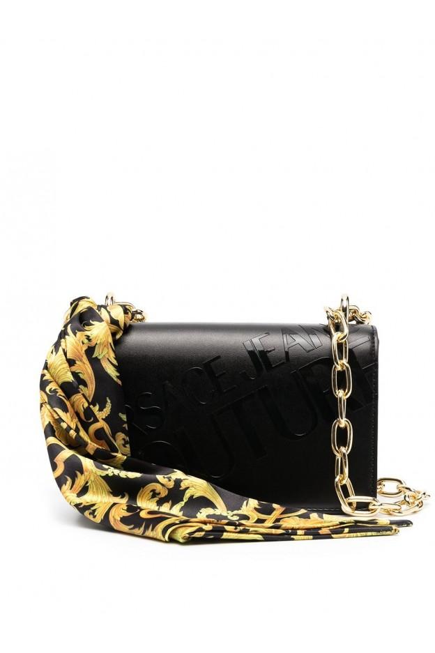 Versace Jeans Couture Barocco Foulard Shoulder Bag E1VWABA2 71875 899 BLACK - New Season Spring Summer 2021