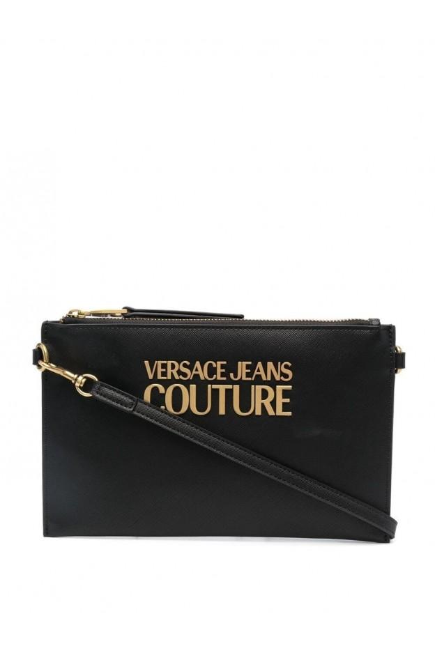 Versace Jeans Couture Logo-Plaque Clutch Bag E1VWABLX 71879 899 NERO - New Season Spring Summer 2021