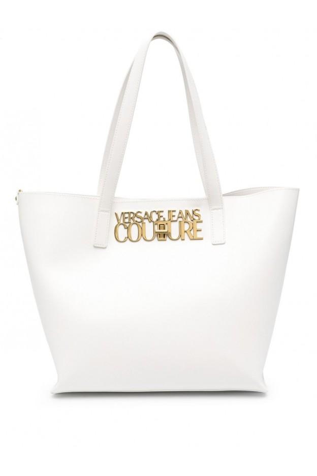 Versace Jeans Couture Logo-Lock Tote Bag E1VWABL8 71879 003 BIANCO - New Season Spring Summer 2021