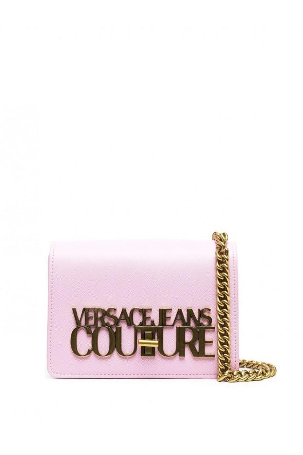 Versace Jeans Couture Small Logo-Plaque Crossbody Bag E1VWABL3 71879 426 DEEP PINK - New Season Spring Summer 2021