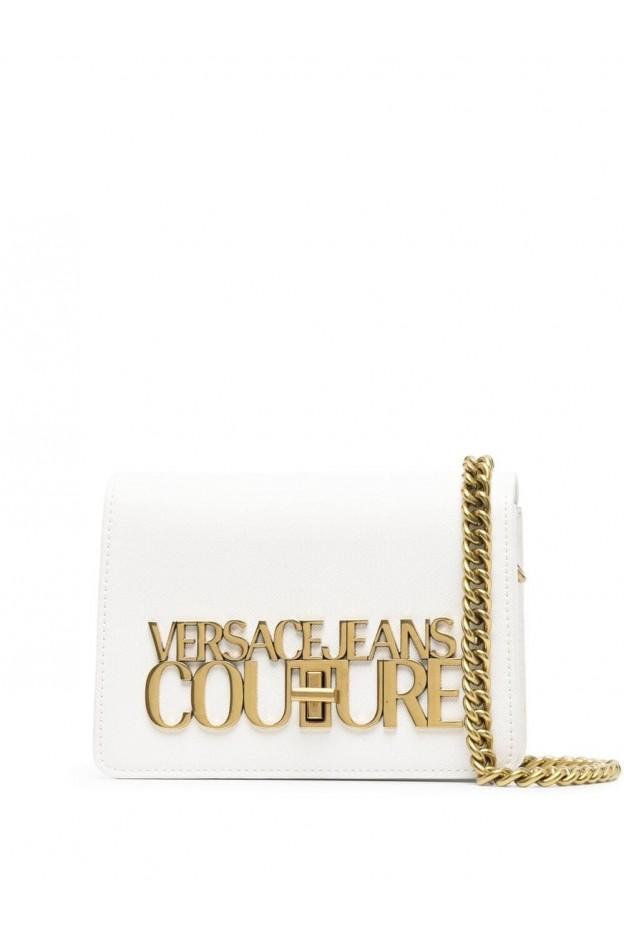 Versace Jeans Couture Logo-Plaque Crossbody Bag E1VWABL3 71879 003 BIANCO OTTICO - New Season Spring Summer 2021