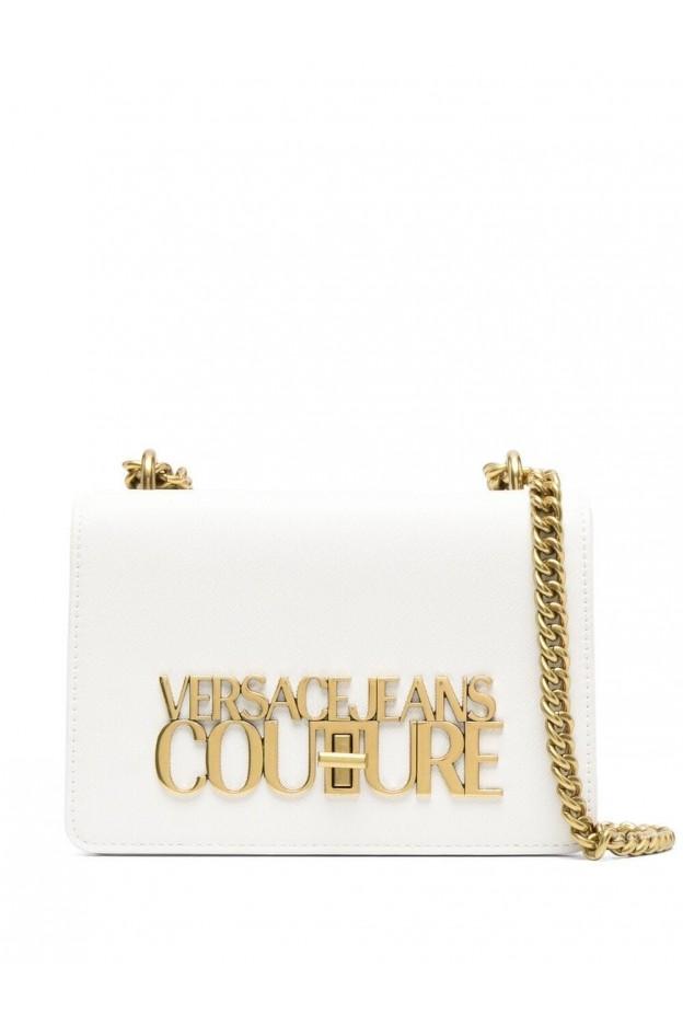 Versace Jeans Couture Logo-Plaque Crossbody Bag E1VWABL1 71879 003 BIANCO - New Season Spring Summer 2021