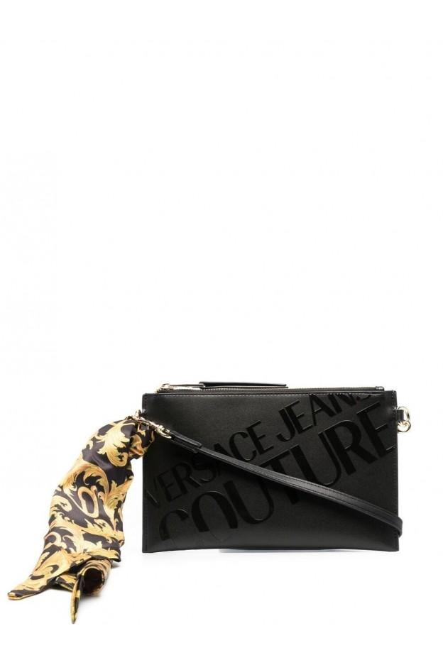 Versace Jeans Couture Logo Print Clutch Bag E1VWABGY 71727 M27 NERO - New Season Spring Summer 2021