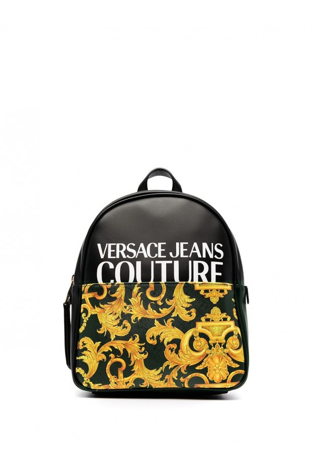 Versace Jeans Couture Barocco-Print Backpack E1VWABG8 71727 BLACK - New Season Spring Summer 2021