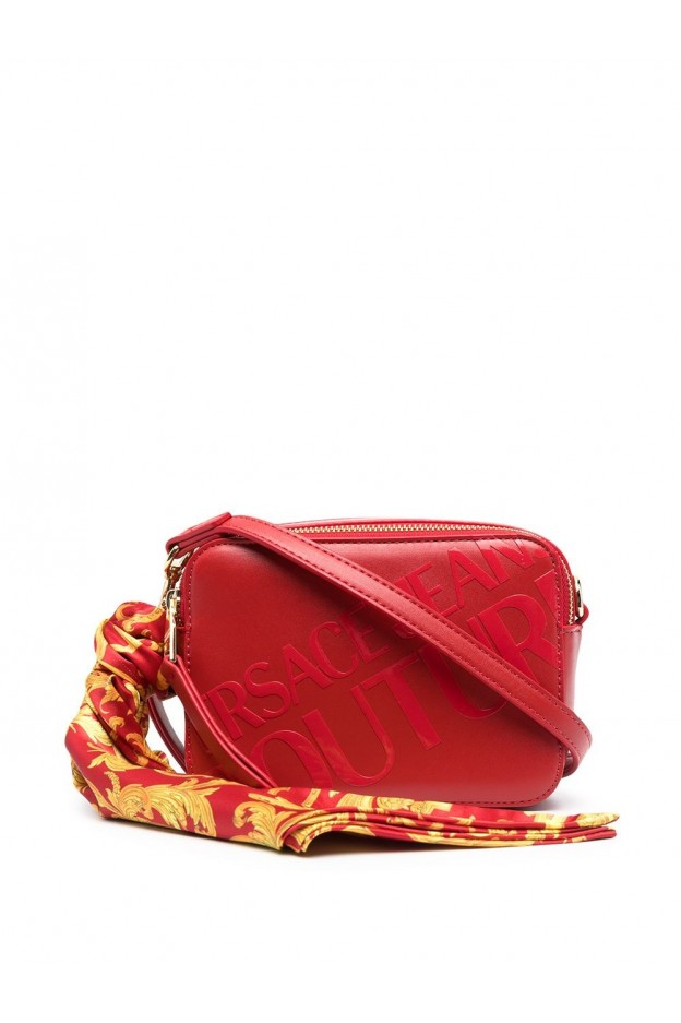 Versace Jeans Couture Logo Print Foulard Camera Bag E1VWABA6 71875 500 RED - New Season Spring Summer 2021