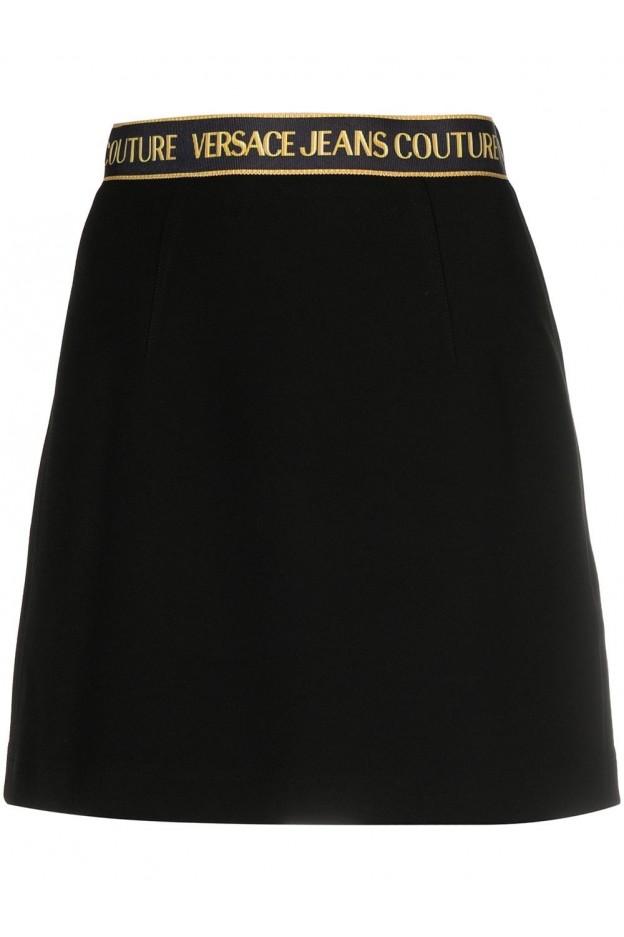 Versace Jeans Couture Minigonna Con Banda Logo A9HWA324 07072 899 NERO - Nuova Collezione Primavera Estate 2021