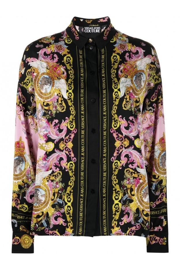 Versace Jeans Couture Camicia Con Stampa B0HWA601 S0229 O16 - Nuova Collezione Primavera Estate 2021