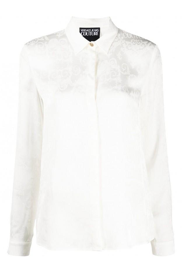 Versace Jeans Couture Camicia Logo Baroque B0HWA628 09475 005 WHITE - Nuova Collezione Primavera Estate 2021