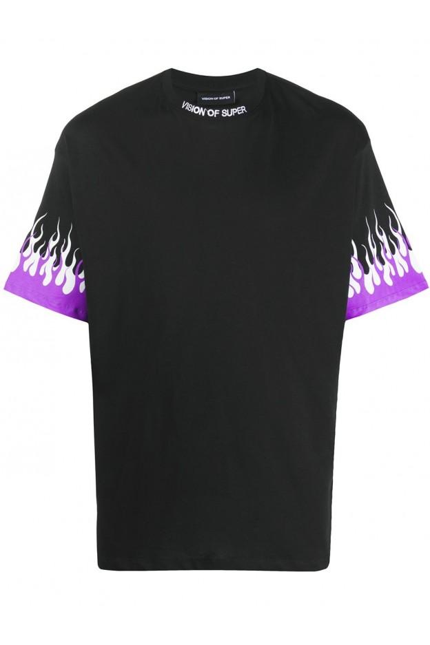 Vision Of Super T-Shirt VOSB1DOUBLEPU BLACK - Nuova Collezione Primavera Estate 2021