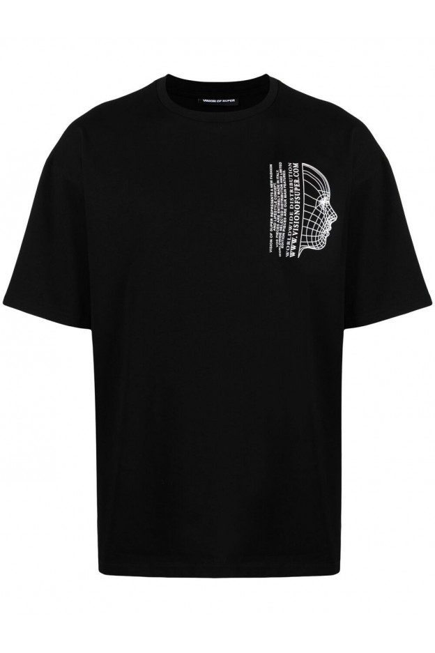 Vision Of Super T-Shirt Con Stampa VOSB1VIRTUAL BLACK - Nuova Collezione Primavera Estate 2021