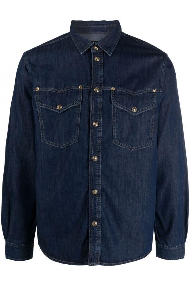 Versace Jeans Couture Long-Sleeved Denim Shirt B1GWA609 60395 904 NAVY - New Season Spring Summer 2021