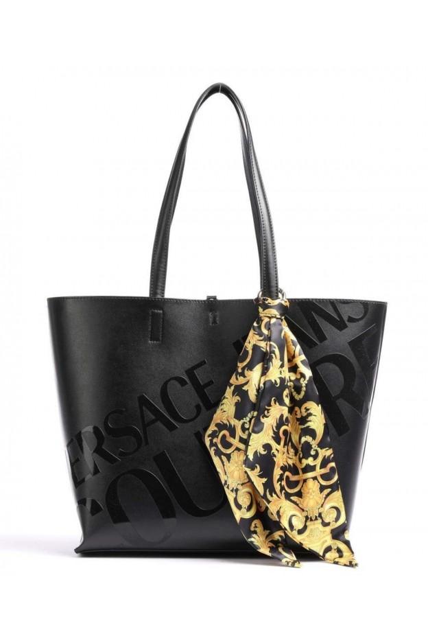 Versace Jeans Couture Open-Top Tote E1VWABA1 71875 899 Black - New Season Spring Summer 2021
