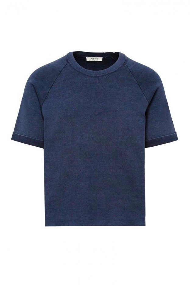 Alpha Basic T-shirt In Dyed Cotton AU-4010CS-1002