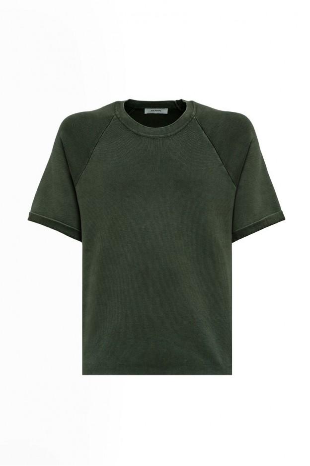 Alpha Basic T-shirt In Dyed Cotton AU-4010CS-1014