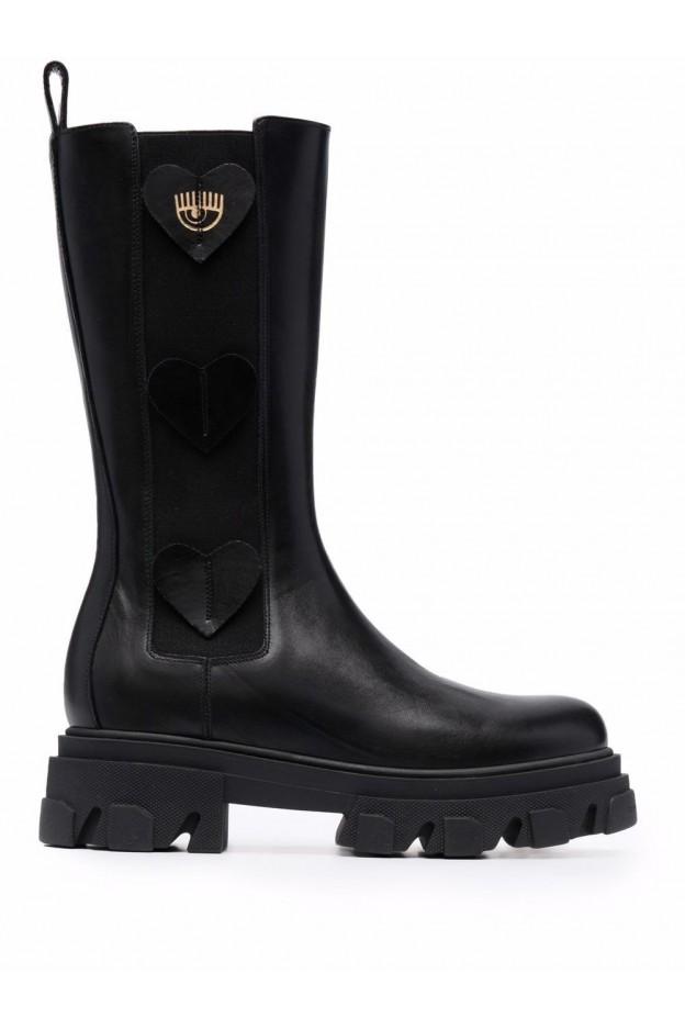 Chiara Ferragni Stivali Con Applicazione CF2853 001 BLACK - Nuova Collezione Autunno Inverno 2021 - 2022