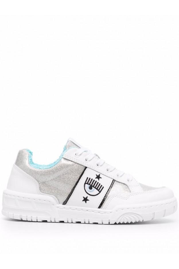 Chiara Ferragni Sneakers Con Dettaglio Occhi CF2832 067 SILVER/WHITE - Nuova Collezione Autunno Inverno 2021 - 2022