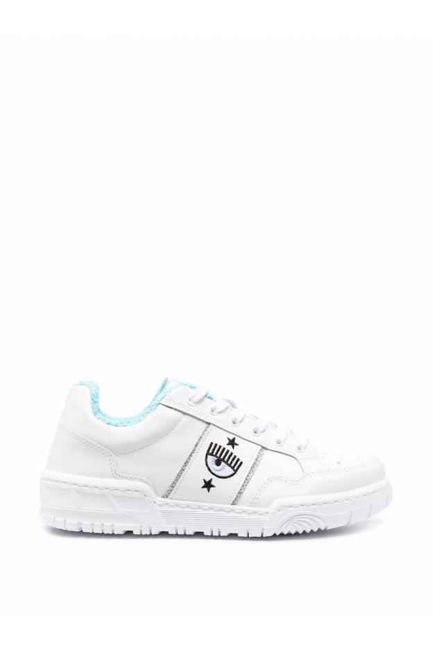 Chiara Ferragni Sneakers Con Ricamo CF2830 009 WHITE - Nuova Collezione Autunno Inverno 2021 - 2022
