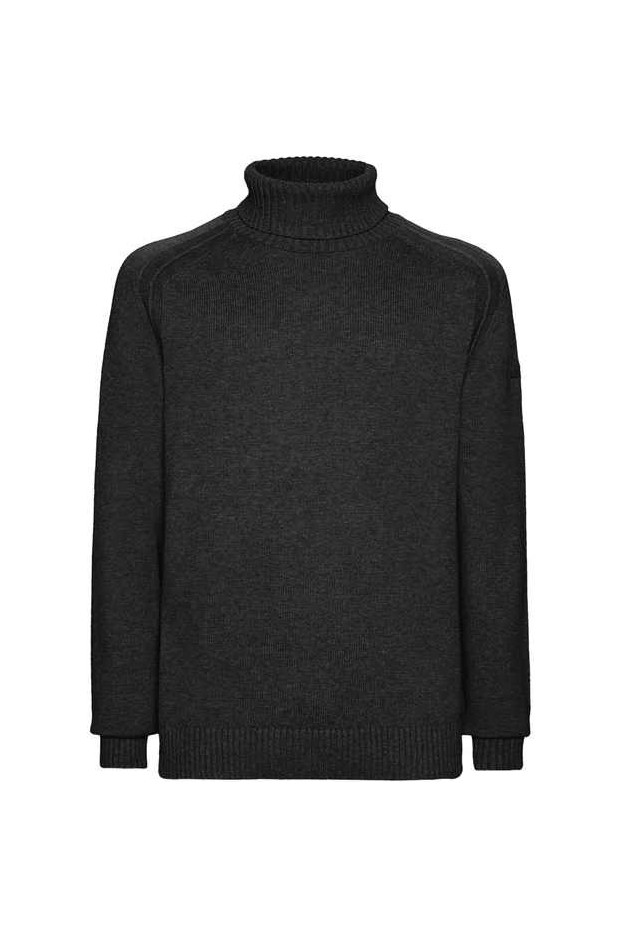 RRD - Roberto Ricci Designs Knit Cotton Plain Turtleneck W21114 10 NERO