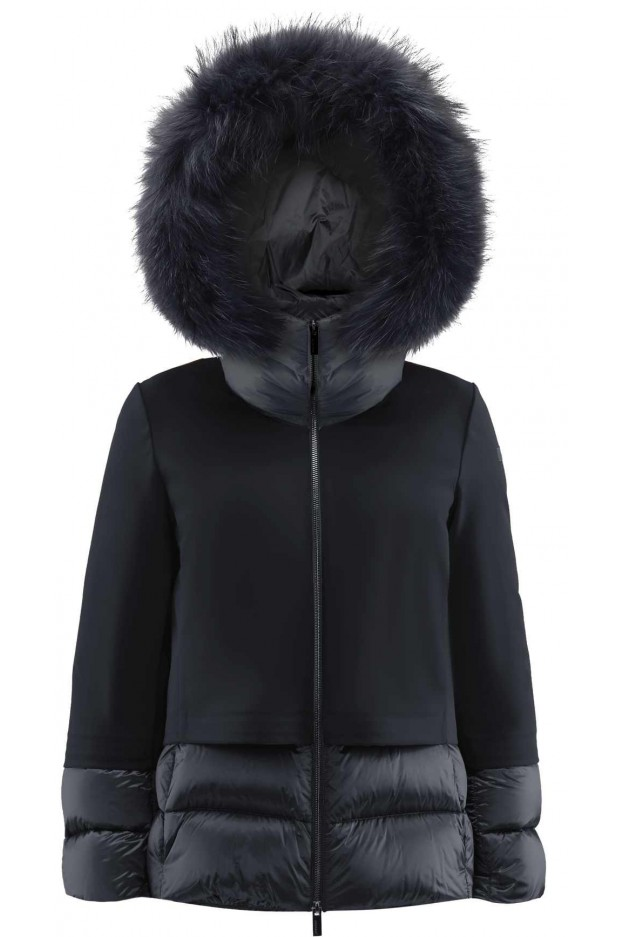 RRD - Roberto Ricci Designs Winter Light Hybrid Hood Lady Fur W21517FT 10 NERO