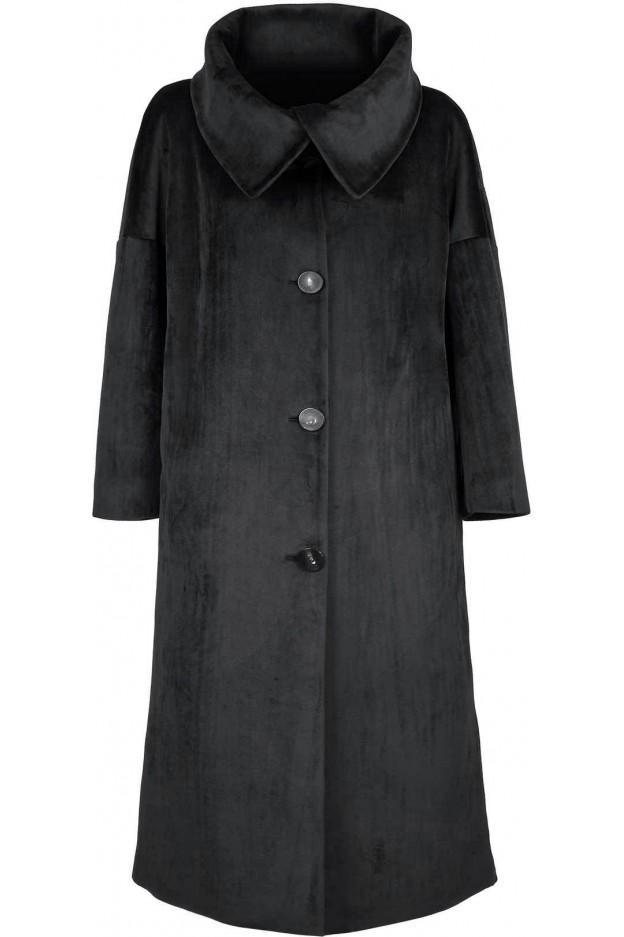 RRD - Roberto Ricci Designs Neo Velvet Coat Lady W21559 10 Black