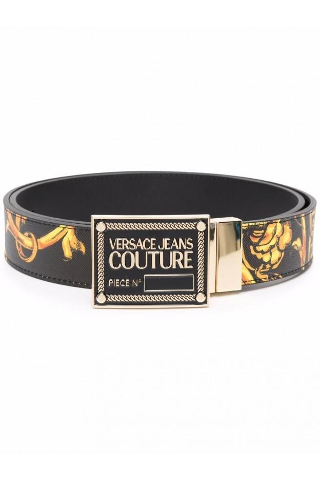 Versace Jeans Couture Baroque-Print Belt 71YA6F01 ZP056 G89 NERO - New Season Fall Winter 2021 - 2022
