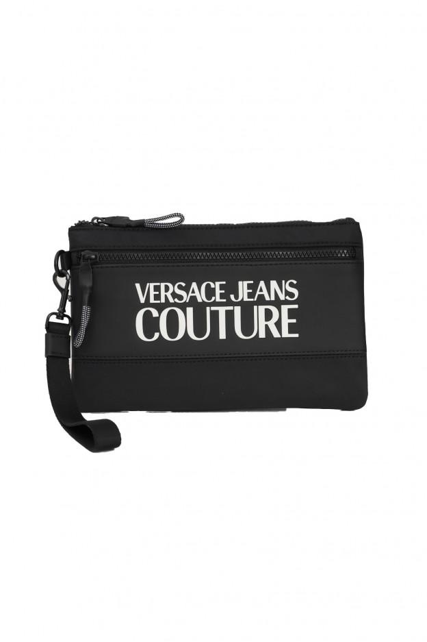 Versace Jeans Couture Print Logo-Appliqué Pouch 71YA5P90 ZS108 899 Black - New Season Fall Winter 2021 - 2022