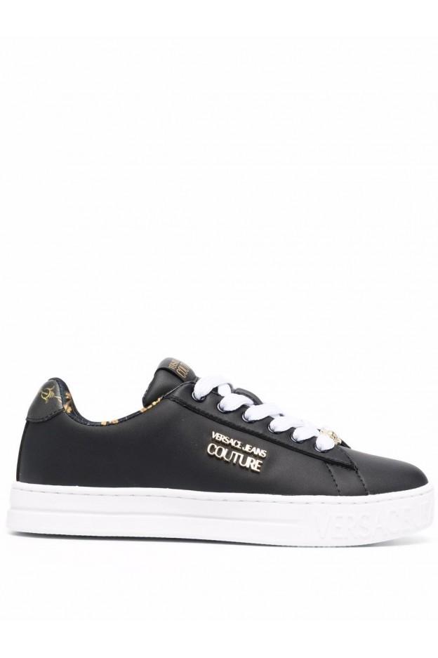 Versace Jeans Couture Sneakers Barocco Court 88 71VA3SKL ZP016 899 BLACK - Nuova Collezione Autunno Inverno 2021 - 2022